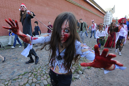 Omsk Zombie Walk banned at churchs request — Gazeta.Ru