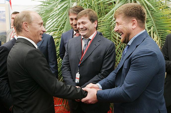 Владимир Путин и Рамзан Кадыров на 6-м Международном инвестиционном форуме «Сочи-2007»