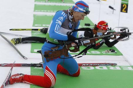 Ольга Зайцева допустила пять промахов в спринте