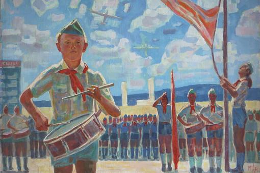 «Пионерская линейка», Михаил Аникеев, 1947 год