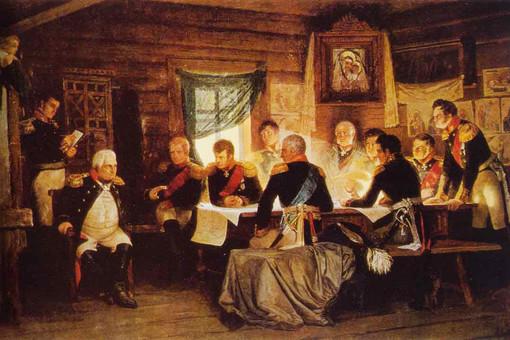 Военный совет в Филях. Художник А. Кившенко, 1912 год