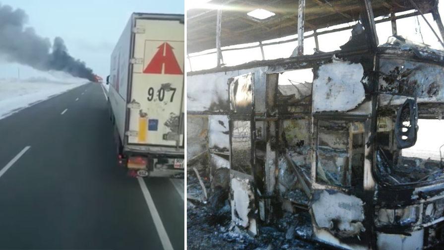 Виновником пожара вавтобусе вКазахстане назвали паяльную лампу