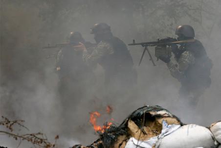 МОЛНИЯ, Славянск: первая атака со стороны Изюма отбита, БТРы нацгвардии отступают