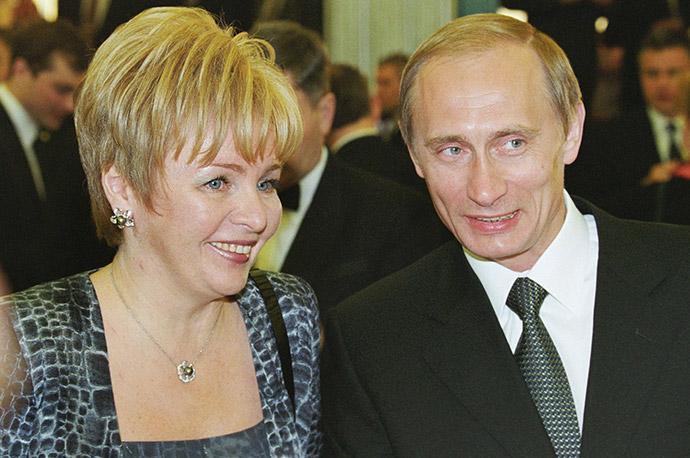 Владимир Путин с супругой Людмилой во время инаугурации в Кремле, 2000 год