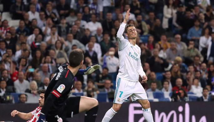 Роналду повторил собственный рекорд, забив в12-м матче подряд