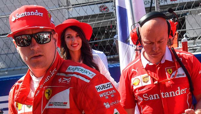 Гонщик «Формулы-1» Райкконен наехал намеханика напит-стопе