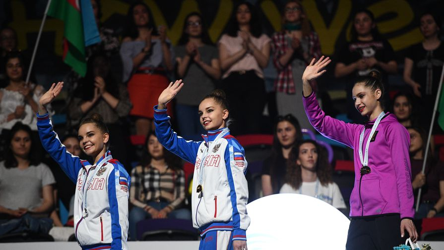 Гимнастка Дина Аверина выиграла золото ЧМ-2019 вупражнениях смячом
