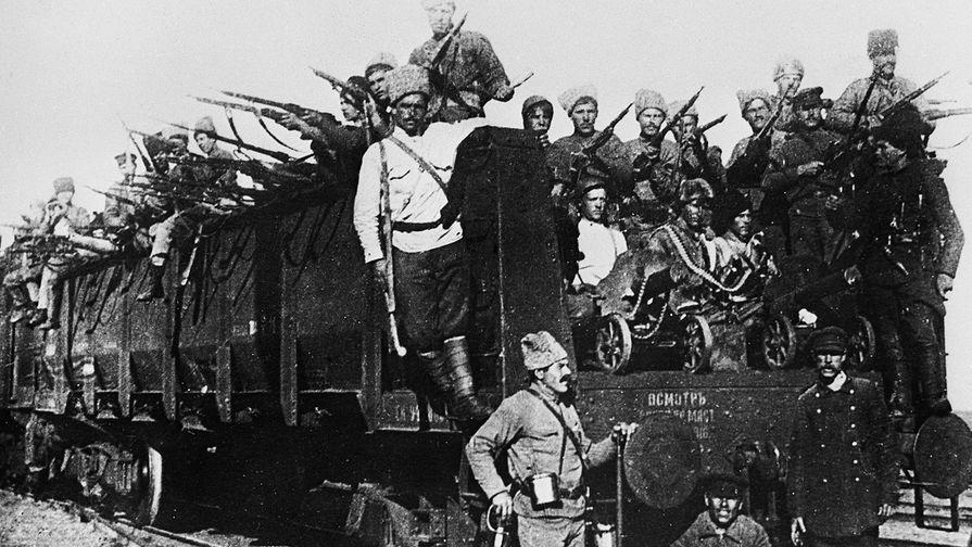 Десант Красной Армии в Казани, 1918 год. Репродукция