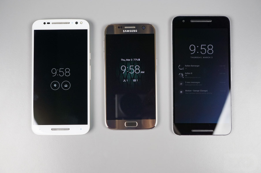 Always On Display ��������� ������� Moto � Nexus