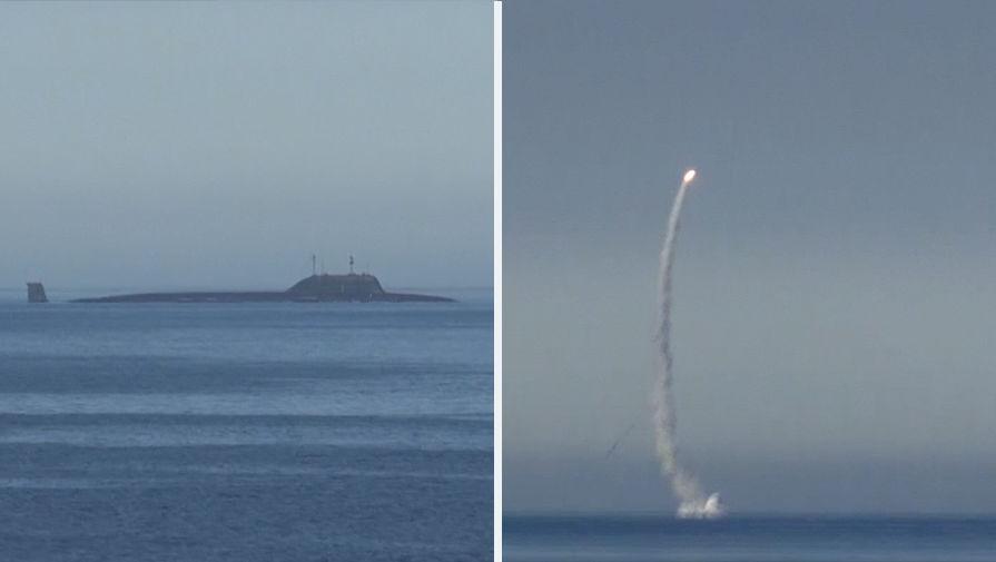 Атомная подлодка «Северодвинск» запустила «Калибр» изБаренцева моря