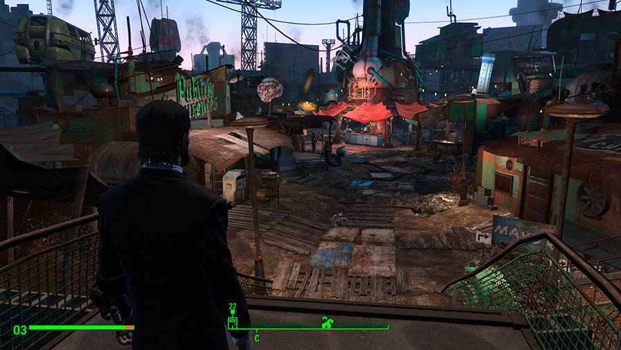 Игровой мир Fallout 4 динамичен и разнообразен