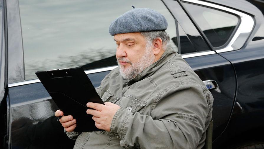 Актер Андрей Шарков на съемках сериала «Тайны следствия»