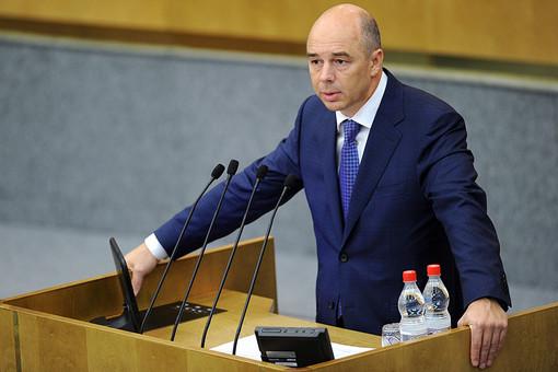 Министр финансов РФ Антон Силуанов во время выступления на пленарном заседании Госдумы