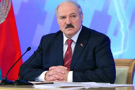 Александр Лукашенко во время пресс-конференции для представителей белорусских и зарубежных СМИ