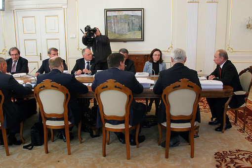 Во время заседания наблюдательного совета «Агентства стратегических инициатив» в Ново-Огарево