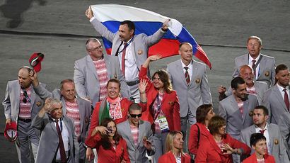 Белорусская делегация вынесла российский флаг на церемонии открытия Паралимпиады