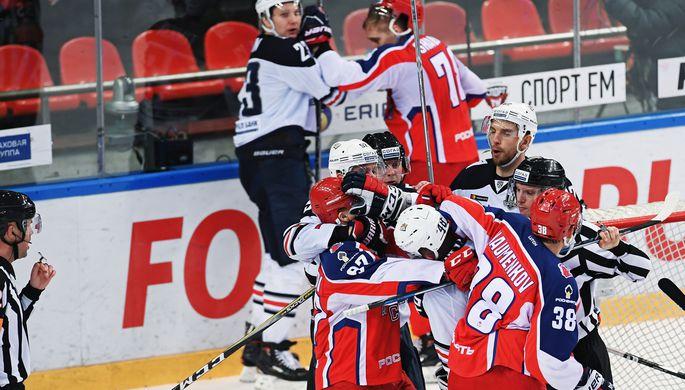 «Магнитка» прервала 12-матчевую победную серию ЦСКА вКХЛ