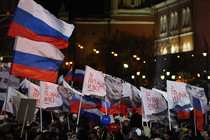 Putin's supporters rallied for him in Moscow