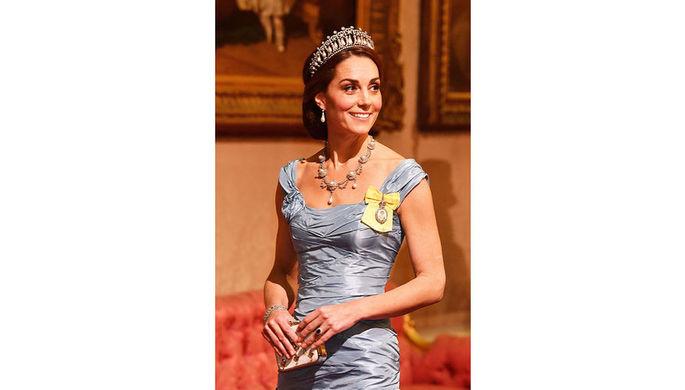 Как королева: Кейт Миддлтон затмила всех наприеме вБукингемском замке