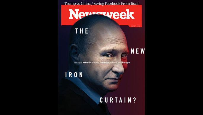 Журнал Newsweek поместил фото В.Путина наобложку нового номера