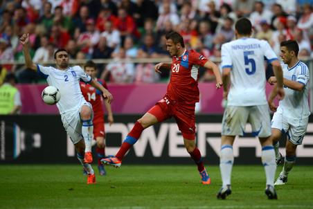 Вацлав Пиларж забил второй мяч чехов на шестой минуте— как оказалось, победный