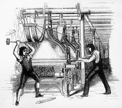Луддиты — ярые противники прогресса начала 19 века