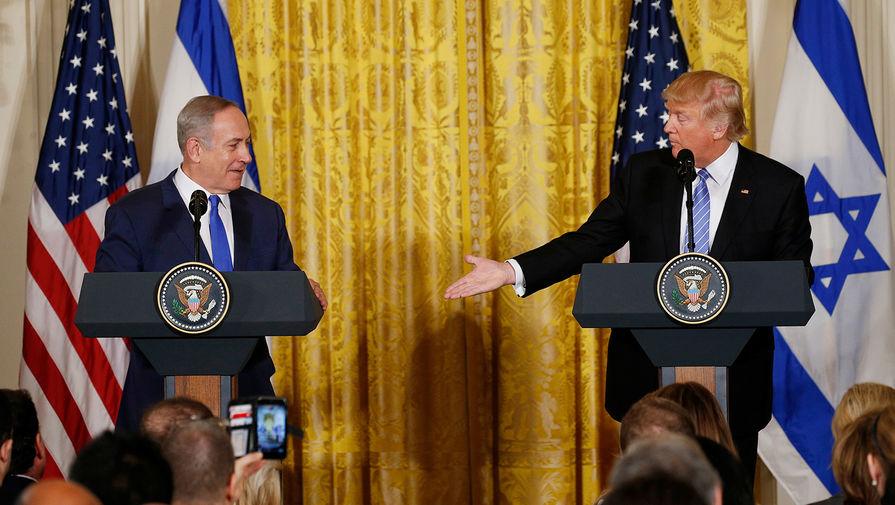 Нетаньяху проинформировал  овыделении места для поселения вчесть Трампа