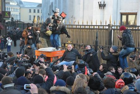 Сергей Удальцов арестован на 10 суток, Алексей Навальный оштрафован на 1000 рублей