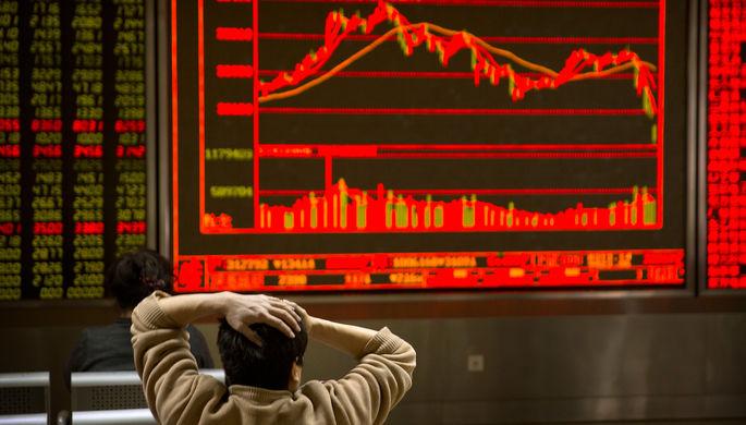 Американские биржи понижаются практически на3% наопасениях новых пошлин