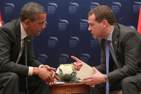Дмитрий Медведев в качестве президента в последний раз встретился с Бараком Обамой
