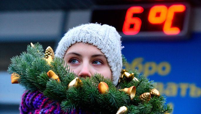Девушка на одной из улиц Москвы