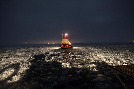 Место выброса товара в Финском заливе, где его чуть позже подобрали доставщики