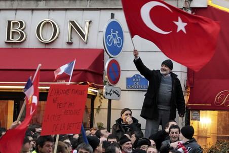 Турецкие протестующие во Франции