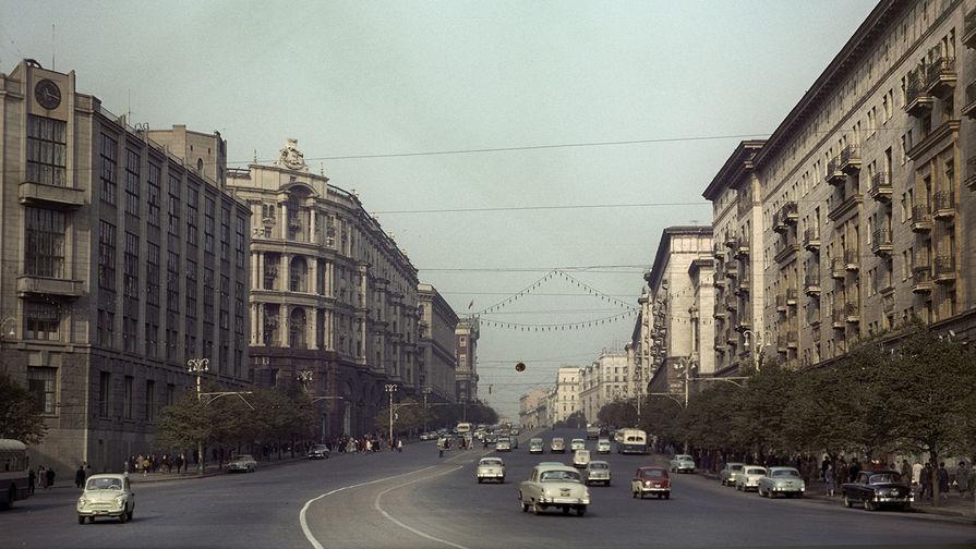 Москва. Улица Горького (ныне Тверская). 1963 год