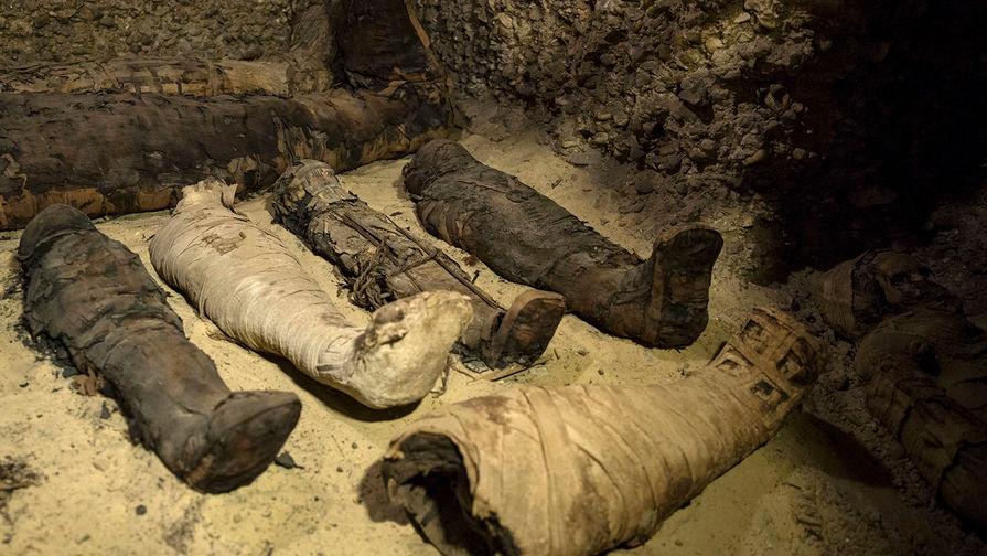 ВЕгипте отыскали полсотни мумий времен Римской империи изолотую маску