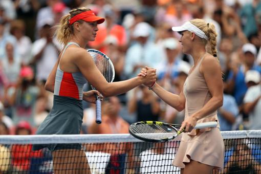 Россиянка Мария Шарапова уступила датчанке Каролине Возняцки в 1/8 финала US Open 2014