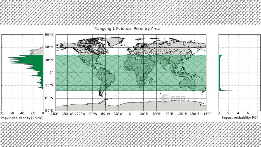 Остатки «Тяньгун-1» прошли атмосферу Земли над Тихим океаном