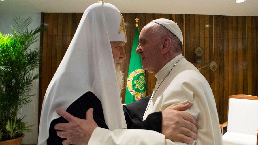 Патриарх Московский и всея Руси Кирилл и папа Римский Франциск во время встречи на Кубе