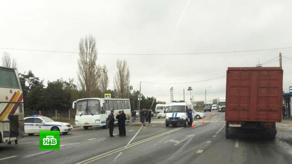 ВВолгоградской области автобус насмерть сбил 3-х детей напешеходном переходе