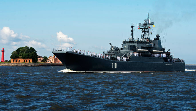 Русские боевые корабли нарушили границу Латвии