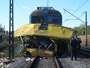 Трагедия на железной дороге по маршруту Никополь - Марганец (Украины)