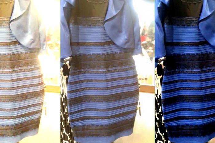 Загадка синего... белого платья