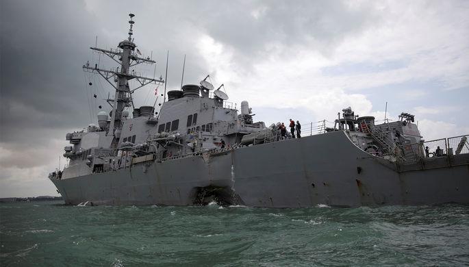 Китайское судно может быть причастно кстолкновению сэсминцем США «Джон Маккейн»