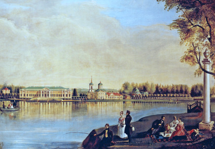 Вид на усадьбу в Кусково. Н. Подключников. 1839 год