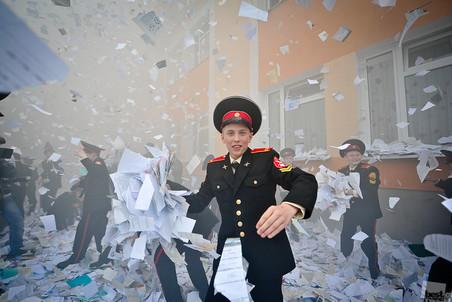 Последний звонок в Московском суворовском военном училище