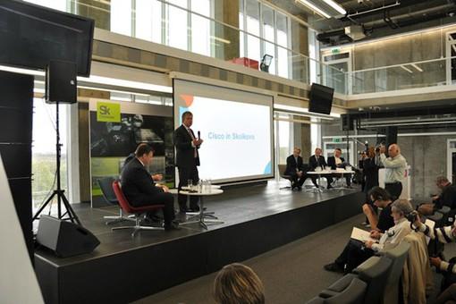 Совместная пресс-конференция Cisco и фонда «Сколково»