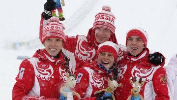 Россияне— вторые в смешанной эстафете на зимних ЮОИ