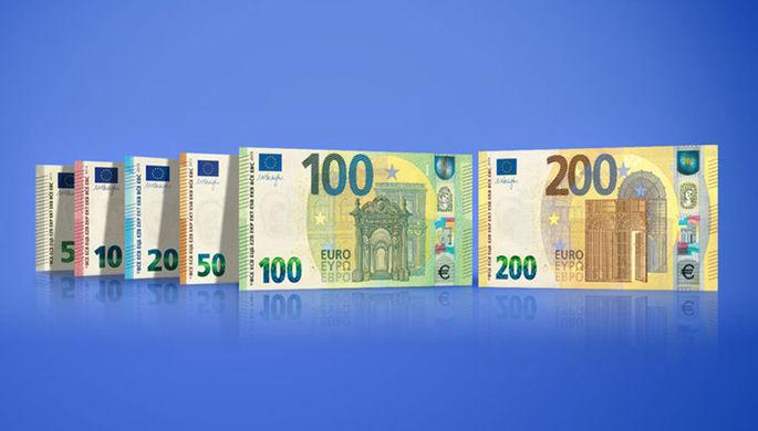 Европейский центральный банк представил новые банкноты в100 и200евро