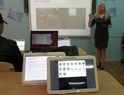 Открытый урок с использованием электронных учебников