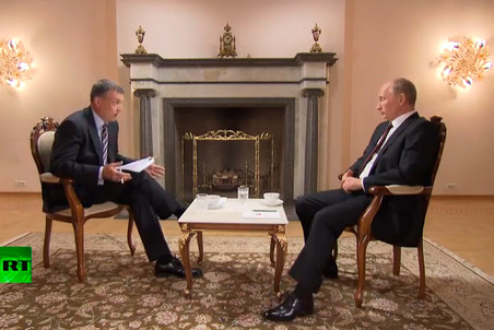 Vladimir Putin spoke of many urgent issues in his first big TV interview since returning to power in May 2012
